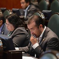 Toluca, México (Diciembre 08, 2016).- Tassio Benjamín Ramírez, Diputado Local por el PVEM, durante el Primer Periodo Ordinario en la LIX Legislatura de la cámara de diputados. Agencia MVT / Arturo Hernández.