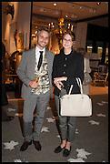 MICHA WEIDMANN & NATALIE BRAUNE at the preview of LAPADA Art and Antiques Fair. Berkeley Sq. London. 23 September 2014.