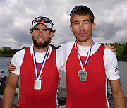 Munich, GERMANY, CAN M2-, righ, Malcolm Howard and Kevin Light,, 2006, FISA, Rowing, World Cup, on the Olympic Regatta Course, Munich,Sat.  27.05.2006. © Peter Spurrier/Intersport-images.com,  / Mobile +44 [0] 7973 819 551 / email images@intersport-images.com.[Mandatory Credit, Peter Spurier/ Intersport Images] Rowing Course, Olympic Regatta Rowing Course, Munich, GERMANY