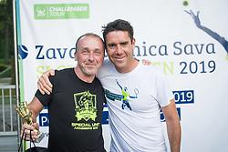 Edi Sep, snemalec POP TV, Gregor Krusic, Drzavno prvenstvo novinarjev v tenisu 2019, on June 12, 2019 in Tivoli, Ljubljana, Slovenia. Photo by Saso Pahic Szabo / Sportida