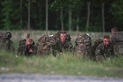 On the night exercise..Exercise Guards Warrior with the Scots Guards at their Catterick base..Pic ©2010 Michael Schofield. All Rights Reserved.