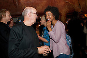 ALAN DAVID ; SOPHIE OKONEDU, Opening in the West end of the Royal Court's Jerusalem after a run on Broadway..<br /> WAXY O CONNORS, 14-16 RUPERT STREET, LONDON . 17 October 2011.  <br /> <br />  , -DO NOT ARCHIVE-© Copyright Photograph by Dafydd Jones. 248 Clapham Rd. London SW9 0PZ. Tel 0207 820 0771. www.dafjones.com.