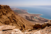 Dead Sea, Israel view east into the lake
