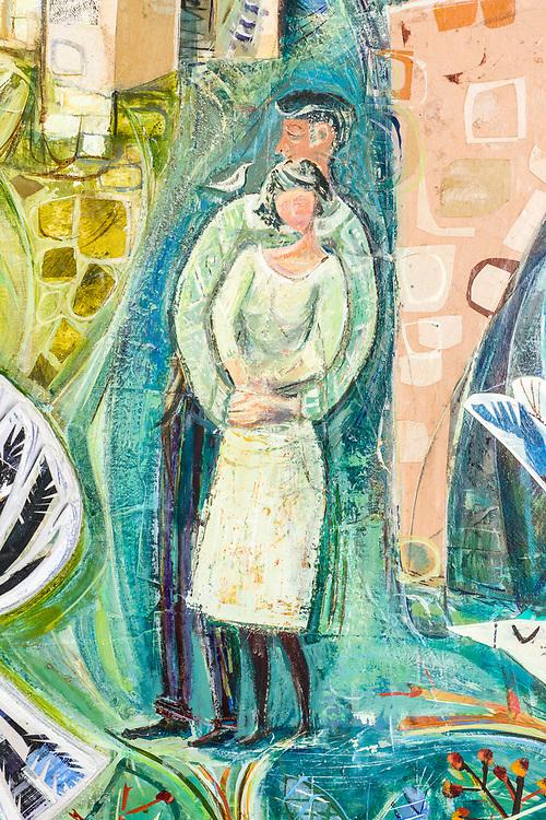 Mural made for Margaret Kerr Unit in Melrose, by the Scottish artist John Berry