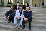 Photocall for newly-released films Vacuuming Completely Nude in Paradise and Strumpet which premiered at the Edinburgh International Film Festival. Pictured (clockwise) are Danny Boyle (director, centre), Anthony Dod Mantle (cinematographer), Martin Carr (producer), Jim Cartwright (writer) and Christopher Eccleston (actor)....