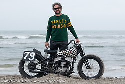 Grant Peterson on his Harley-Davidson Flathead racer at TROG (The Race Of Gentlemen). Wildwood, NJ. USA. Saturday June 9, 2018. Photography ©2018 Michael Lichter.