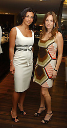 Left to right, ELLA KRASNER and EMILY OPPENHEIMER at a party to celebrate the publication of 'The Russian House' by Ella Krasner held at De Beers, 50 Old Bond Street, London W1 on 9th June 2005.<br /><br />NON EXCLUSIVE - WORLD RIGHTS