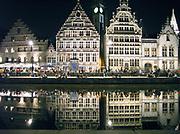 Belgie, Gent, 8-9-2016Stadsgezicht op de Kraanlei, uitgaansgebied in het centrum van de stad wat autovrij is gemaakt.Foto: Flip Franssen