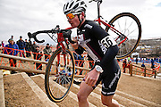 SHOT 1/12/14 12:24:46 PM - Peter Goguen (#56) of Hopedale, Ma. competes in the Men's 17-18 Race in the 2014 USA Cycling Cyclo-Cross National Championships at Valmont Bike Park in Boulder, Co. Goguen won the race with a time of 40:13. (Photo by Marc Piscotty / © 2014)