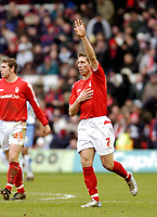 Photo: Leigh Quinnell.<br /> Nottingham Forest v Swindon Town. Coca Cola League 1. 25/02/2006. Nicky Southall celebrates his hat trick for Nottingham Forest.