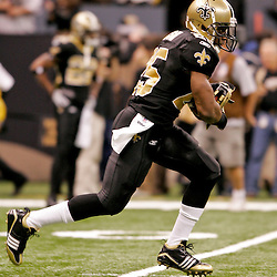 2009 December 19:  New Orleans Saints running back Reggie Bush (25) during warm ups prior to kickoff of a game between the Dallas Cowboys and the New Orleans Saints at the Louisiana Superdome in New Orleans, Louisiana.