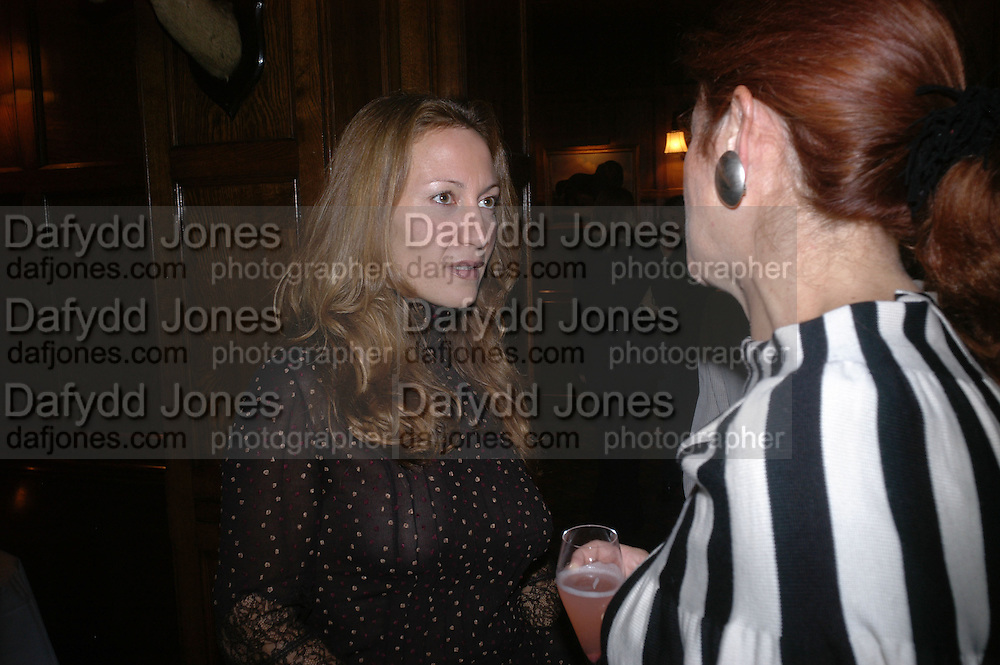 Lady Foster and Diana Widmaier Picasso. Book launch for ' Picasso: Art Can Only Be Erotic' by diana Widmaier Picasso. American Bar at the Connaught. Carlos Place. London W1.  October 11 2005. ONE TIME USE ONLY - DO NOT ARCHIVE © Copyright Photograph by Dafydd Jones 66 Stockwell Park Rd. London SW9 0DA Tel 020 7733 0108 www.dafjones.com