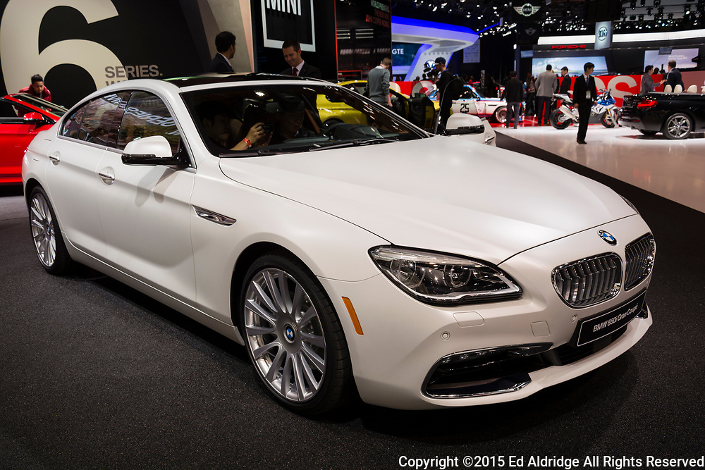 DETROIT, MI, USA - JANUARY 12, 2015: BMW 650 Gran Coupe on display during the 2015 Detroit International Auto Show at the COBO Center in downtown Detroit.