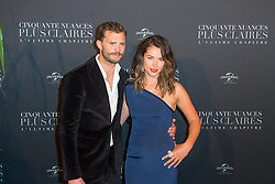 Jamie Dornan and his wife Amelia Warner attends Fifty Shades Freed world premiere at Salle Pleyel on February 06, 2018 in Paris, France. Photo by Nasser Berzane/ABACAPRESS.COM