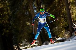 Iryna Kryuko (BLR) in action during the Women 7,5km Sprint at day 7 of IBU Biathlon World Cup 2018/19 Pokljuka, on December 8, 2018 in Rudno polje, Pokljuka, Pokljuka, Slovenia. Photo by Urban Urbanc / Sportida