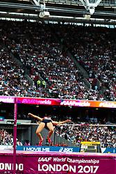 London, August 12 2017 . Michaela Hrubá, Czech Republic, the women's high jump final on day nine of the IAAF London 2017 world Championships at the London Stadium. © Paul Davey.