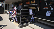 CHICAGO - JUNE 02:  Tim Anderson #7 of the Chicago White Sox enters the dugout prior to the game against the Cleveland Indians on June 2, 2019 at Guaranteed Rate Field in Chicago, Illinois.  (Photo by Ron Vesely)  Subject:  Tim Anderson