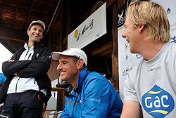 Wiliams and Richard share a joke as Bruni sees the funny side of it. Photo: Chris Davies/WMRT
