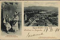 Pozdrav iz Zagreba : Kaptol, Novaves i zagreb. gora / Hrvatska nošnja iz Šestina kraj Zagreba. <br /> <br /> ImpresumZagreb : Naklada A. Brusina, [1899]. (Dresden-Budapest : Druck von Edgar Schmidt)<br /> Materijalni opis1 razglednica : tisak ; 9 x 13,9 cm.<br /> NakladnikTiskara A. Brusina<br /> Vrstavizualna građa • razglednice<br /> ZbirkaGrafička zbirka NSK • Zbirka razglednica<br /> Formatimage/jpeg<br /> PredmetZagreb –– Kaptol<br /> SignaturaRZG-KAP-67<br /> Obuhvat(vremenski)19. stoljeće<br /> NapomenaRazglednica je putovala 1899. godine.<br /> PravaJavno dobro<br /> Identifikatori000955580<br /> NBN.HRNBN: urn:nbn:hr:238:455337 <br /> <br /> Izvor: Digitalne zbirke Nacionalne i sveučilišne knjižnice u Zagrebu