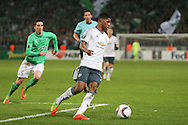 Marcus Rashford Forward of Manchester United during the Europa League match between Saint-Etienne and Manchester United at Stade Geoffroy Guichard, Saint-Etienne, France on 22 February 2017. Photo by Phil Duncan.