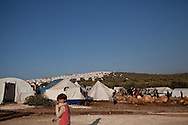 The Atmeh camp on the border with Turkey, set up for Syrians displaced from the violence. Around 12,000 IDP now live in the camp. December 2nd 2012, Atmeh, Syria.