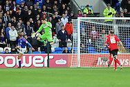 Cardiff city's keeper David Marshall saves from David McGoldrick of Ipswich (l).  NPower championship, Cardiff city v Ipswich Town at the Cardiff city Stadium in Cardiff, South Wales on Saturday 12th Jan 2013. pic by Andrew Orchard, Andrew Orchard sports photography,