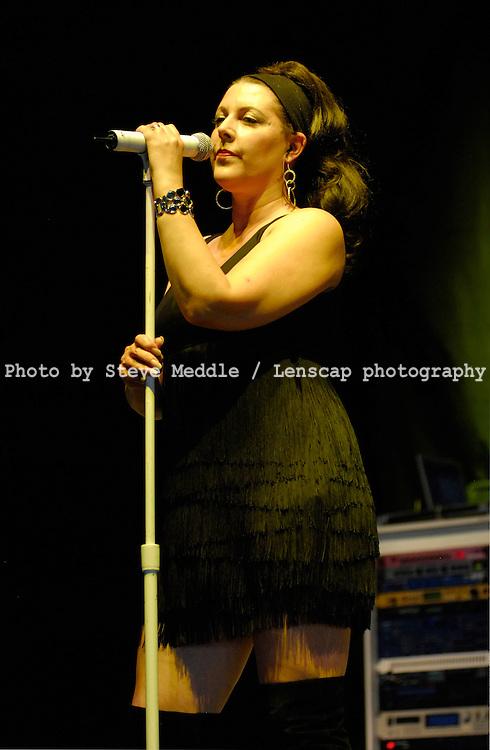 Joanne Catherall, Human League,Virgin Mobile V Festival V2009, Hylands Park, Chelmsford, Essex, Britain - 22nd Aug 2009.