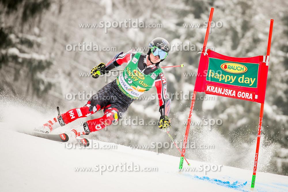 Trevor Philp of Canada during 2nd run of Men's Giant Slalom race of FIS Alpine Ski World Cup 57th Vitranc Cup 2018, on March 3, 2018 in Podkoren, Kranjska Gora, Slovenia. Photo by Ziga Zupan / Sportida
