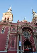 Exterior view of the Basilica de la Merced, Santiago, Chile.