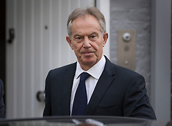 © Licensed to London News Pictures. 06/07/2016. London, UK.  Former Prime Minister Tony Blair leaves home. The Iraq Inquiry, Chaired by Sir John Chilcot, is finally being published today, six years after it was started. The long awaited report into the Iraq war, the run-up to the conflict in Iraq, the military action and its aftermath is 2.6 million words long.  Photo credit: Peter Macdiarmid/LNP