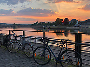 Sunset over Koblenz, Germany