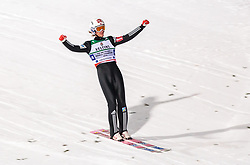 21.01.2018, Heini Klopfer Skiflugschanze, Oberstdorf, GER, FIS Skiflug Weltmeisterschaft, Teambewerb, im Bild Daniel Andre Tande (NOR) // Daniel Andre Tande of Norway celebrate during Team competition of the FIS Ski Flying World Championships at the Heini-Klopfer Skiflying Hill in Oberstdorf, Germany on 2018/01/21. EXPA Pictures © 2018, PhotoCredit: EXPA/ JFK