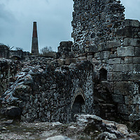 Cornwall Mining Trail showing relics and industrial heritage from the days of Cornish tin mining industry