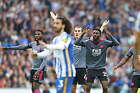 Football - 2021 / 2022 Premier League - Brighton & Hove Albion vs Leicester City - Amex Stadium - Sunday 19th September 2021<br /> <br /> Wilfred Ndidi of Leicester City can't believe his goal has been ruled out during the Premier League match at The Amex Stadium Brighton  <br /> <br /> COLORSPORT/Shaun Boggust