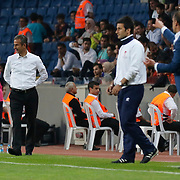 Fenerbahce's coach Ismail Kartal (L) during their Turkish Super League soccer match Istanbul Basaksehir between Fenerbahce at the Basaksehir Fatih Terim Arena at Basaksehir in Istanbul Turkey on Monday, 25 May 2015. Photo by Aykut AKICI/TURKPIX