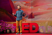 Host Chris Anderson speaks at TED2019: Bigger Than Us. April 15 - 19, 2019, Vancouver, BC, Canada. Photo: Bret Hartman / TED