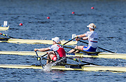 Sarasota. Florida USA.SUI W1X, Jeannine GMELIN, and GBR W1X, Victoria THORNLEY in the closing strokes of the final. Sunday Final's Day at the  2017 World Rowing Championships, Nathan Benderson Park<br /> <br /> Sunday  01.10.17   <br /> <br /> [Mandatory Credit. Peter SPURRIER/Intersport Images].<br /> <br /> <br /> NIKON CORPORATION -  NIKON D500  lens  VR 500mm f/4G IF-ED mm. 200 ISO 1/1250/sec. f 5.6