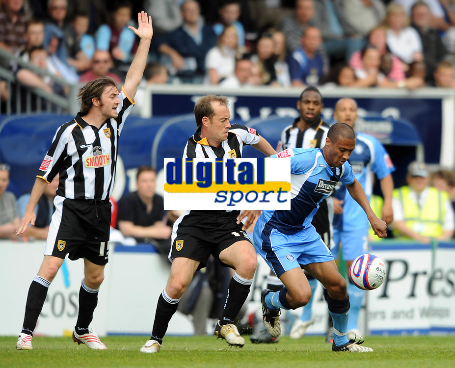 Wycombe Wanderers/Notts County Coca Cola League Two 02.05.09 <br /> Photo: Tim Parker Fotosports International<br /> Lewis Hunt Wycombe & Jamie Clapham Notts County