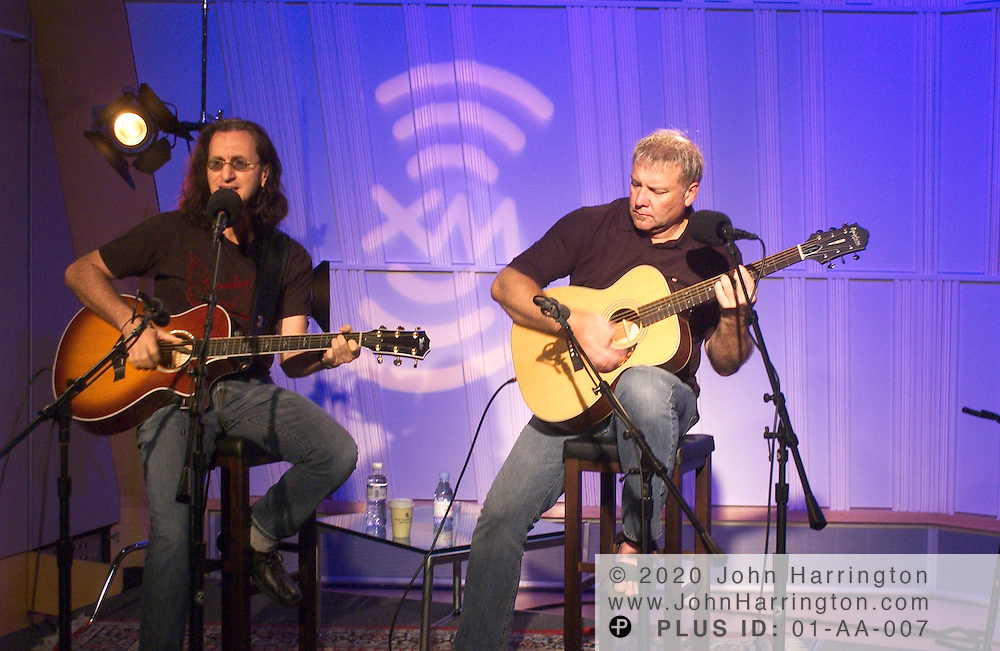 Canadian rock band Rush preformed at XM studios on Tuesday August 3, 2004.