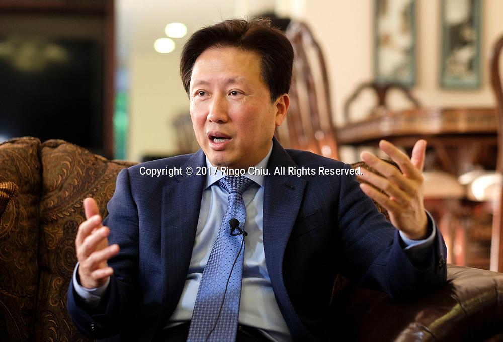 Wang Jian, Consulate General of China in Tijuana, Mexico on Thursday April 20, 2017. (Xinhua/Zhao Hanrong)