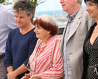 Eric Guirado, Agnes Varda, Regis Wargnier and Chloe Rolland at the Jury Camera D'Or photocall at the Cannes Film Festival 17th May 2013