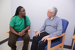 Counsellor with client. Cleared for Mental Health issues.