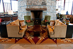 California: Ritz-Carlton at Northstar at Lake Tahoe.  Decor of wood and stone.   Photo copyright Lee Foster.  Photo # cataho100318