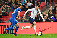 England Forward Jamie Vardy (9) makes a run at goal during the Friendly match between England and Italy at Wembley Stadium, London, England on 27 March 2018. Picture by Stephen Wright.