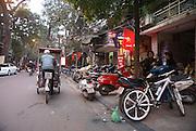 Vietnam, Hanoi, Rickshaw