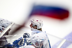 Jan Drozg of Slovenia celebrate after scoring a goal during ice hockey match between Hunngary and Kazakhstan at IIHF World Championship DIV. I Group A Kazakhstan 2019, on May 3, 2019 in Barys Arena, Nur-Sultan, Kazakhstan. Photo by Matic Klansek Velej / Sportida