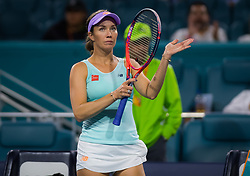 March 22, 2019 - Miami, FLORIDA, USA - Danielle Collins of the United States in action during the second-round at the 2019 Miami Open WTA Premier Mandatory tennis tournament (Credit Image: © AFP7 via ZUMA Wire)