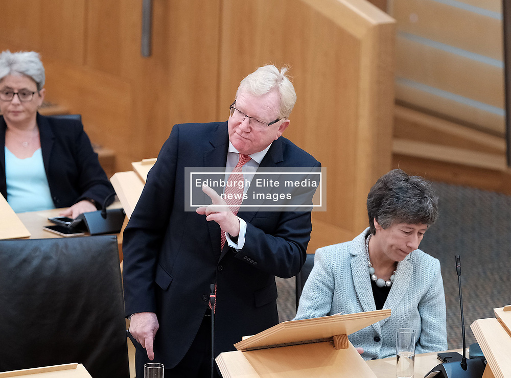 First Minister's Questions in the Scottish Parliament<br /> <br /> Thursday, 19th September 2019<br /> <br /> Pictured: Scottish Conservative interim leader Jackson Carlaw<br /> <br /> Alex Todd | Edinburgh Elite media