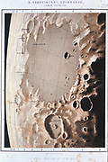 Lunar surface, 1857. Surface of the Moon in the region of Mare Crisium at New Moon. From 'Astronomical Observations made at the Royal Observatory, Edinburgh'. (Edinburgh, 1857).