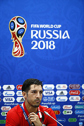 June 17, 2018 - Sochi, Russie - SOCHI, RUSSIA - JUNE 17 : Hernan Dario Gomez head coach of Panama and Jaime Penedo goalkeeper of Panama during the press conference prior to the FIFA 2018 World Cup Russia group G phase match between Belgium and Panama at the Fisht Stadium on June 17, 2018 in Sochi, Russia, 17/06/2018 (Credit Image: © Panoramic via ZUMA Press)